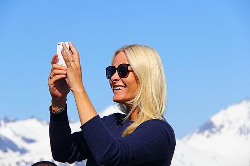 Mette Marit og nakkeprolapsen - Foto Wikimedia